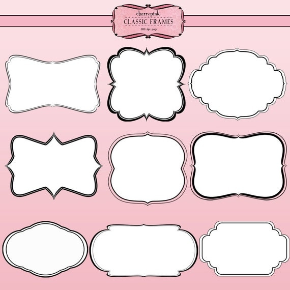 digital frames scrapbook clip art supplies png files digital scrapbook supplies