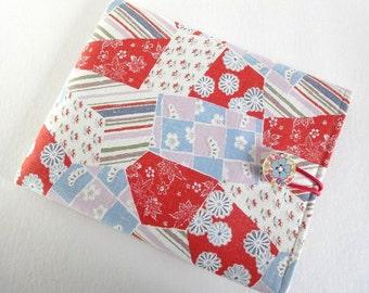 iPad Sleeve - iPad Case - iPad Cover - Padded Tablet case - Kimono pattern fabric chrysanthemum flowers