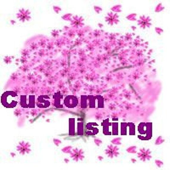 Custom listing for Michele