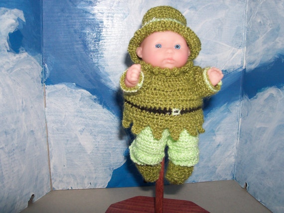 5 inch Berenguer Doll in St. Patrick's Day Outfit