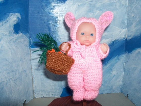 5 inch Berenguer Doll in Easter Bunny Outfit
