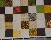 Brown Fall Colored Baby Blanket