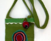 Funky and Fun Wool Felted Purse