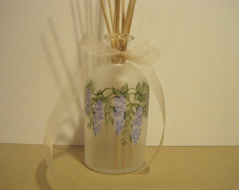 CUSTOM ORDER: Reed Diffuser Oil Set  Hand frosted and Painted Glass Bottle