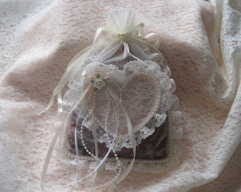 Lace, Ribbons and Pearls Potpourri Sachet For Home Decor and More