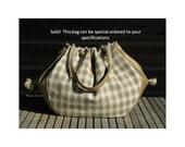 """Custom Designer Original Hemp & Leather Handbags - 29""""  x 17,""""  and 5"""" x 7"""" Leather Pocket Inside ('Gold Leaf' Edition 2, Number I)"""
