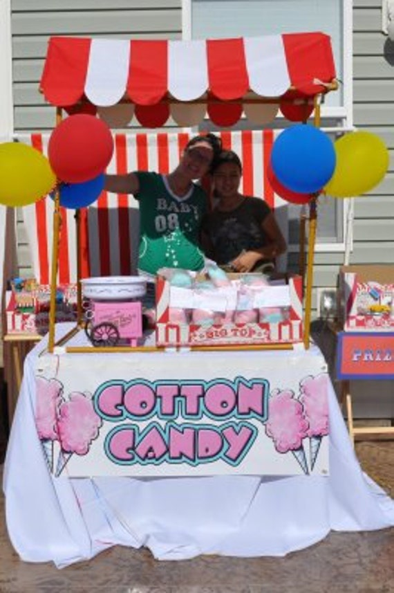 large vinyl cotton candy banner