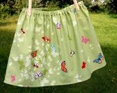 CUSTOM LISTING butterfly skirt green girls