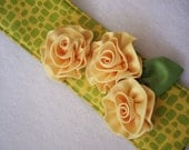 Camera Strap Cover with Dior Roses :  Yellow Rose (of Texas) with Doube Lens Cap Pockets