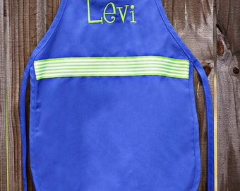 Personalized Child's Apron with ribbon