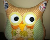Shelby the Orange Sherbet Owl Pillow Friend
