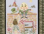 Humpty Dumpty - Children's Fantasy  Art - Imagine Magic - OOAK Original Fairy Tale Art