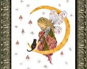 Orion's Heaven - Fairy Flower Art - OOAK Original Fantasy Design - Magical Cat - Real Flower Blossoms - Imagine Magic