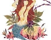 8 x 10 Fine Art Giclee Print - Mystic Mermaid - Fantasy Fairy Art