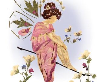 8 x 10 Fine Art Giclee Print - Fairy of Mercy - Flower Fantasy Art