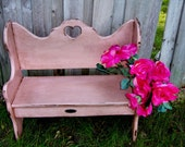 Distressed Vintage Wood Shabby Pink Child's Or Garden Furniture