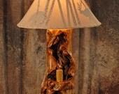 Hurricane log lamp - Rustic lamp - Rustic home decor - Log cabin decor