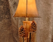 Aspen, and pinecone lamp