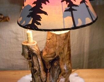 Aspen lodge lamp 2 bulb