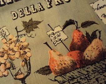 Vtg. Unused Luther Travis Tea Towel, Mercato Della Frutta