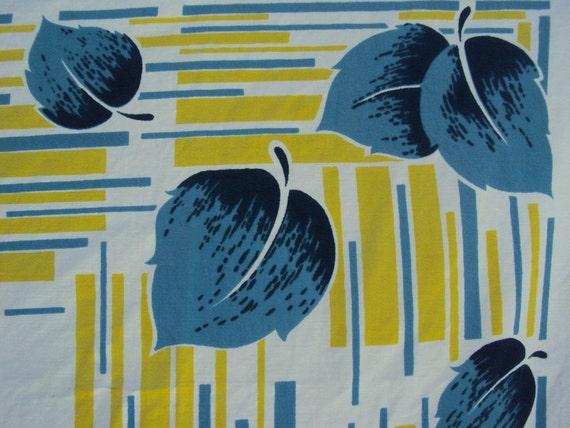 Vtg. California Hand Prints Tablecloth Tag 48x52