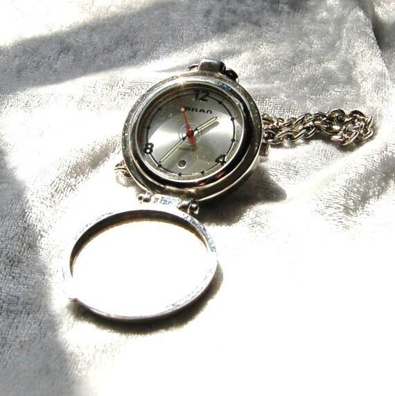 Vintage Minimalist Milan Quartz Pocket Watch -  Excellent Condition and Working
