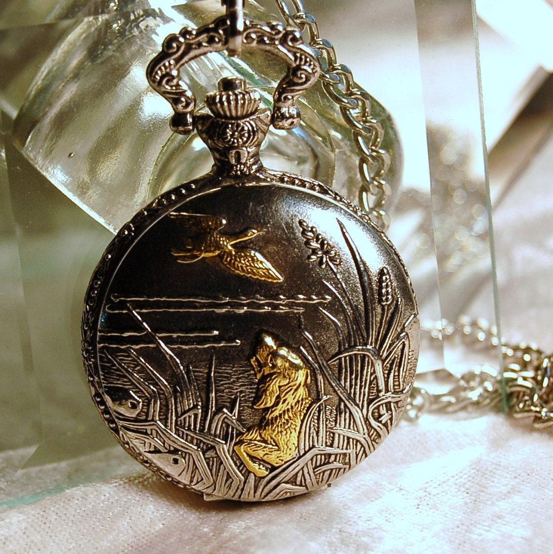 ornate vintage milan duck hunting quartz pocket by circadesign