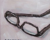 "small original oil painting - ""Reading Glasses"""