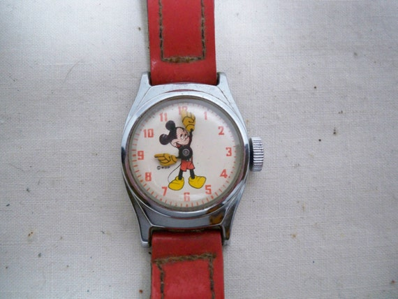 Vintage 1950s  Mickey Mouse Watch