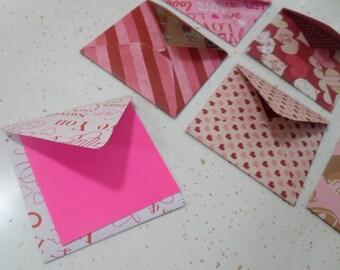 Valentine-themed Note Envelopes, Valentine Envelopes, Note Envelopes, Heart Envelope, Valentine Notes, Valentine Stationery, Heart Envelopes