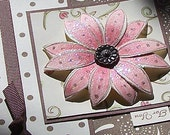 Lucious Chocolate & Pink Glittered Card