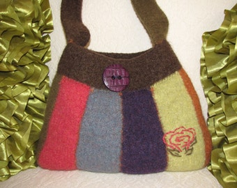 Felted Purse Pattern, Knit Bag Pattern, Knit Purse Pattern, Knit Tote Pattern - Urban Stripe - Knitting Patterns by Deborah O'Leary