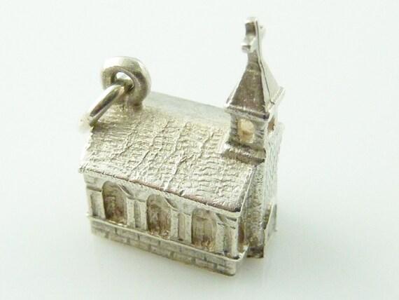 Vintage Sterling Silver Church Charm
