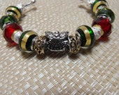 European Style Christmas Bracelet Silver and Gold