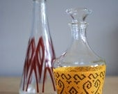 Vintage pair of glass decanters- 1970s