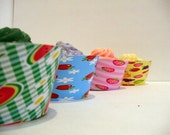 Fluted Cake Wraps- Fruity set of 12