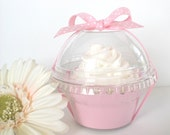 Set of 24 Clear Plastic Cupcake Favor Containers