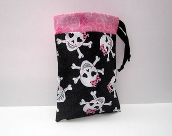 Girl Pirate Party Favor Bags / Pink Pirate Bags