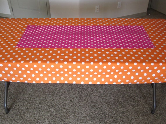 Hot Pink Polka Dot Table Runner - Birthday Party Decoration