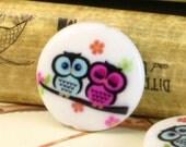 Owl Beads/Cabochons - 20pcs