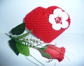 Handmade Little Red Love Heart  Amigurumi/Love/valentine's day/special/simple gift  3d in red