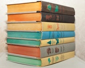 Delightful 1960s Classic Story Book Set of Seven Illustrated Hardcover Children's Books by Junior Editions