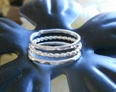 3 Silver Rings, Stacking set - Little ball Ring - Bead Set - silver pearl bead ring - bead eternity ring - Silver stack Bands - Dotted Ring