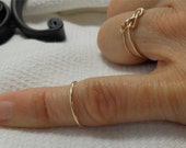 Knuckle ring, 14k gold filled, Mid finger layering ring, NON TARNISH Gold won't rub off