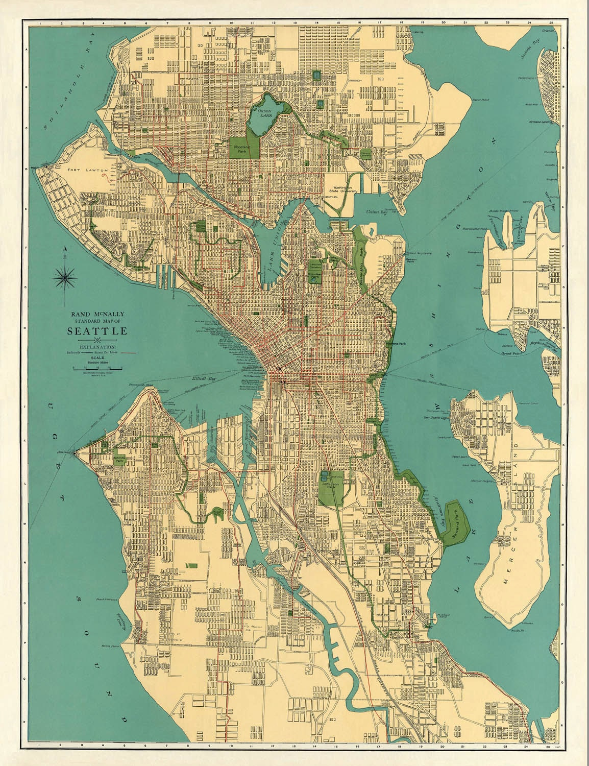 Bewitching image with regard to printable map of seattle