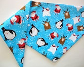 Christmas Dog Bandana: Santa Polar Bear Reindeer Penguin Party Xmas Pet Scarf - Custom Orders