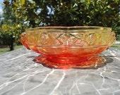 Vintage Decorative Red/Orange Glass Candy Dish
