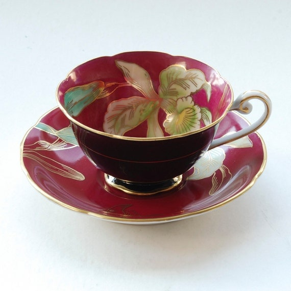 Items Similar To Wako China Occupied Japan White Orchid