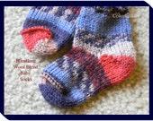 Wool Hand Knit Baby Socks