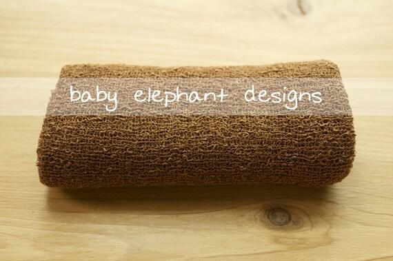 Stretchy Textured Knit Photo Wrap - CARAMEL